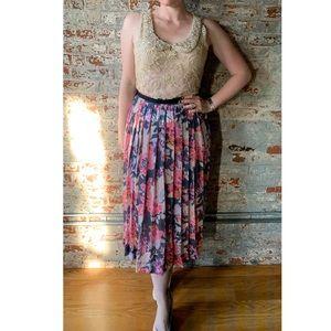 Anthropologie Maeve Sequin Pleated Skirt